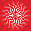 Red sunburst vector illustration Stock Photo