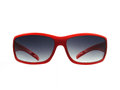 Red sunglass a fashionable isolated on white Stock Images