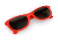 Red sunglasses on white background Royalty Free Stock Images
