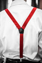 Red  Suspenders Detail Royalty Free Stock Photo