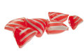 Red sweets isulatede on white Stock Image