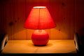 Red table lamp Royalty Free Stock Images