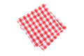 Red table napkins on white background Royalty Free Stock Photo