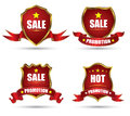 Red tag banner collection can use for background about business concept Royalty Free Stock Photography