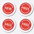 Red tags Royalty Free Stock Photos