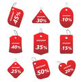 Red tags - discount Royalty Free Stock Images