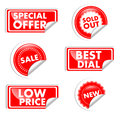 Red Tags For Sale Stock Images