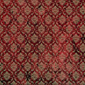 Red Tan Damask Print Stock Image