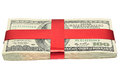 Red tape dollars tied up by a Royalty Free Stock Image