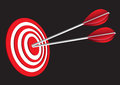 Red Target Board Royalty Free Stock Photography