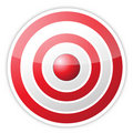 Red target with success word Royalty Free Stock Photos