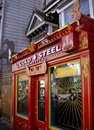 Red tattoo shop in america Royalty Free Stock Photo