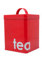 Red tea container on white background Stock Photography