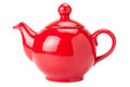 Red Teapot isolated Stock Photos