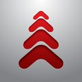 Red techno 3d christmas tree Royalty Free Stock Photo