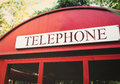 Red telephone booth Royalty Free Stock Photo