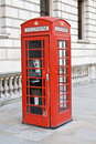 Red telephone booth in London Royalty Free Stock Image