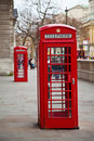 Red telephone booth in London Royalty Free Stock Images