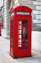 Red telephone booth in London Stock Images