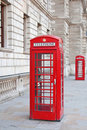 Red telephone booth in London Royalty Free Stock Photography