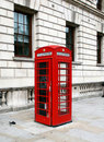 Red telephone booth in London Stock Photos
