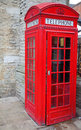 Red telephone booth in London Stock Image