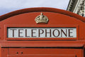 Red telephone booth london close up of a traditional old style Royalty Free Stock Photo