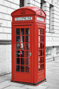 Red telephone booth in London, England Royalty Free Stock Photos