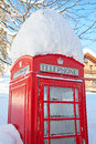 Red telephone booth in london famous uk Royalty Free Stock Photos