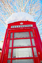 Red telephone booth in london famous uk Royalty Free Stock Images