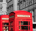Red telephone booths Royalty Free Stock Photo