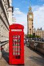 Red Telephone Box and Big Ben Royalty Free Stock Photo