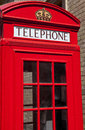 Red telephone box in london a Stock Photography
