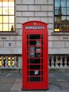 Red telephone box from london Royalty Free Stock Photo