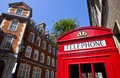 Red telephone box in london the iconic Stock Image