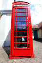 Red telephone box in London, UK Stock Image