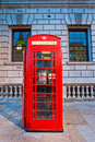 Red telephone box, London, UK Royalty Free Stock Photos