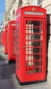 Red Telephone Boxes Royalty Free Stock Photography