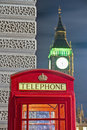 Red telephone at London, England Royalty Free Stock Photos