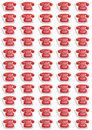 Red telephones pattern Stock Images