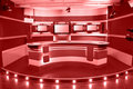 Red television studio Stock Photo