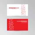 Red template of business card with abstract elements Royalty Free Stock Photo
