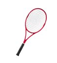 Red tennis racket isolated white Royalty Free Stock Photo