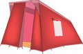 Red tent tourism rest Royalty Free Stock Photography