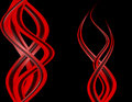 Red tentacles background Royalty Free Stock Images