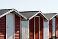 Red terrace house wooden in summer Stock Photography