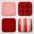 Red textile squares background for apps textures in round square shapes Royalty Free Stock Images