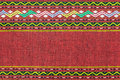 Red thai silk fabric pattern for background Stock Photos