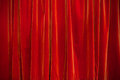Red theater curtain background Royalty Free Stock Photo