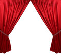 Red theater curtain background isolated Stock Image